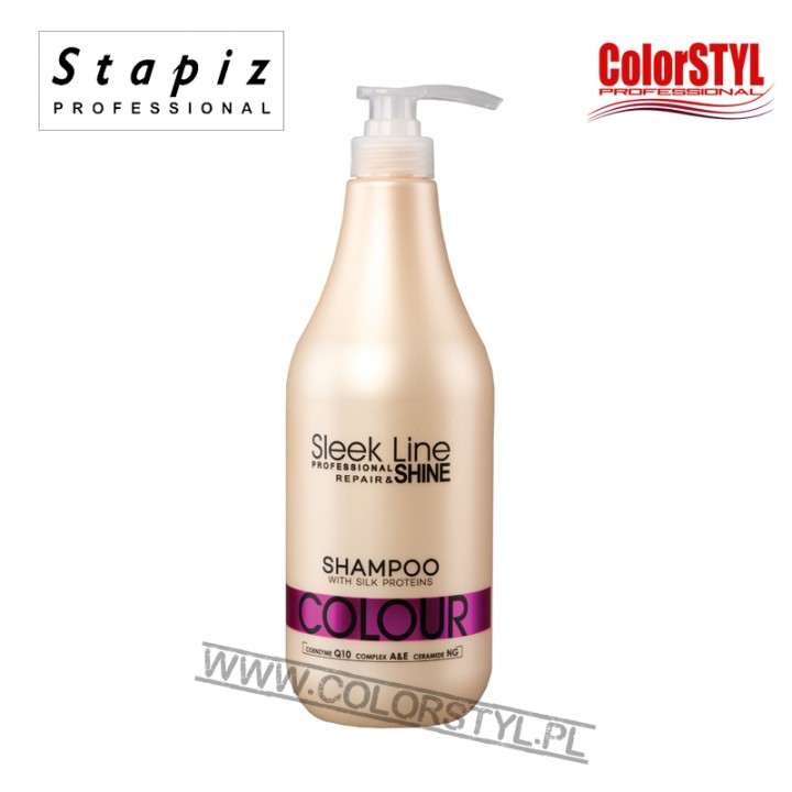 STAPIZ SZAMPON COLOUR SLEEK LINE 1L