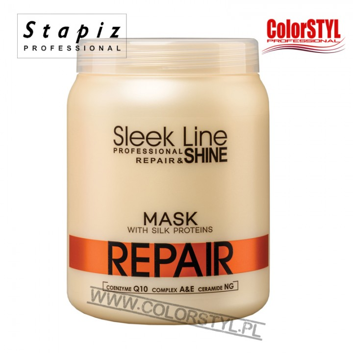 STAPIZ MASKA REPAIR SLEEK LINE Z JEDWABIEM 1L