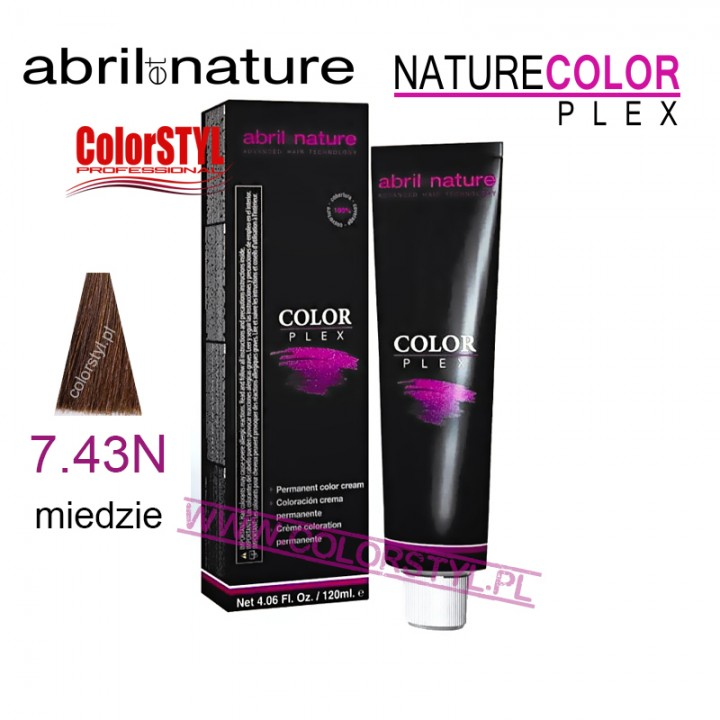 ABRIL ET NATURE COLOR PLEX FARBA 120ML 7.43N